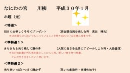 なにわの宮川柳平成29年12月(光り)のサムネイル